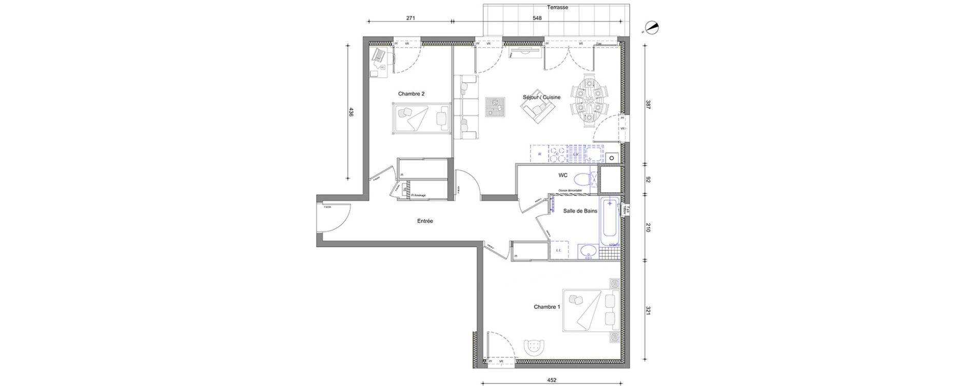 Appartement T3 de 68,77 m2 à Vétraz-Monthoux Centre