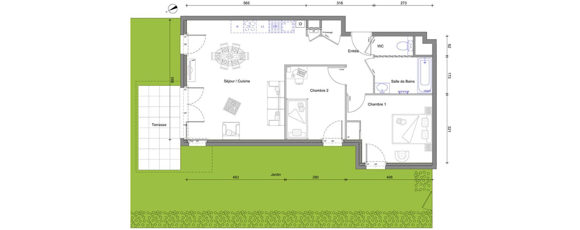 Appartement T3 de 63,05 m2 à Vétraz-Monthoux Centre