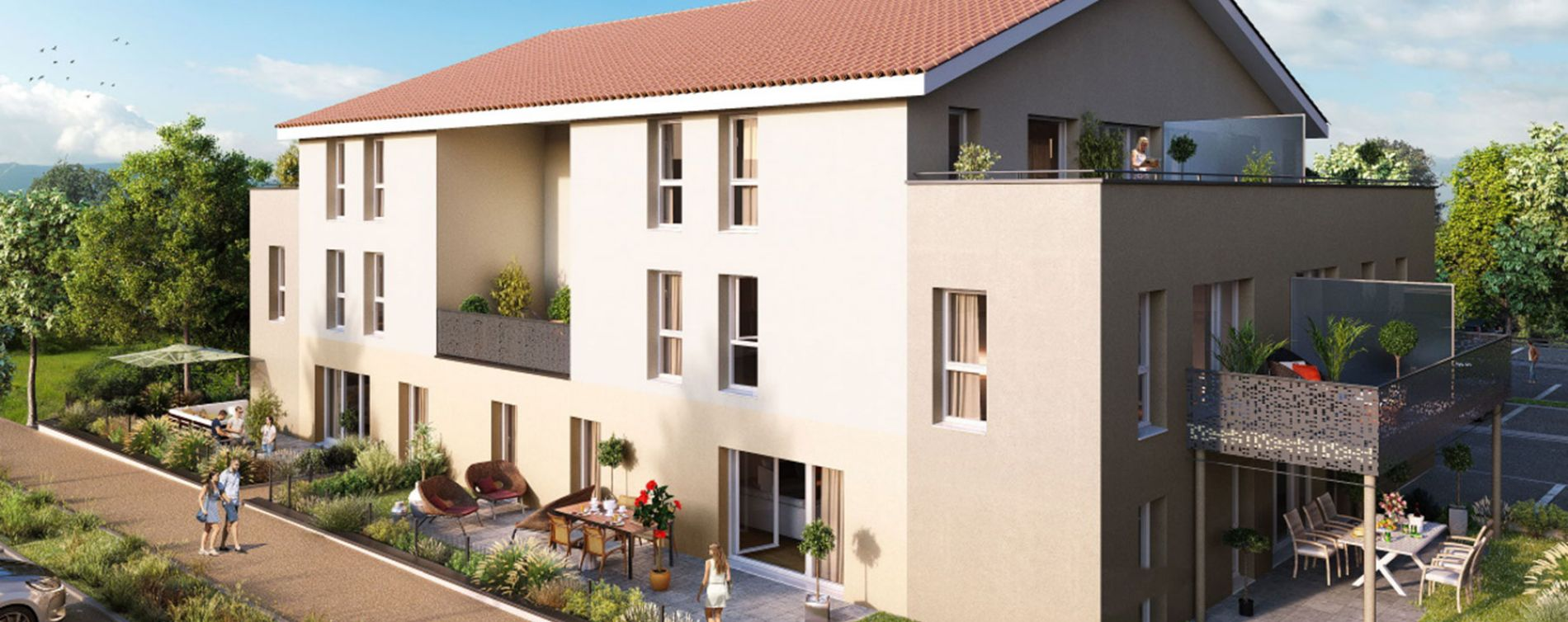 Chasse-sur-Rhône : programme immobilier neuve « Les Terrasses du Pilat » en Loi Pinel