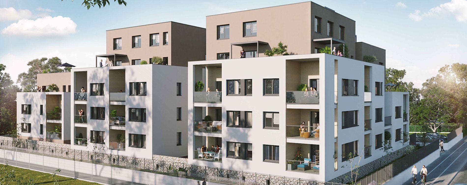 Grenoble : programme immobilier neuve « L'Emeraude » en Loi Pinel