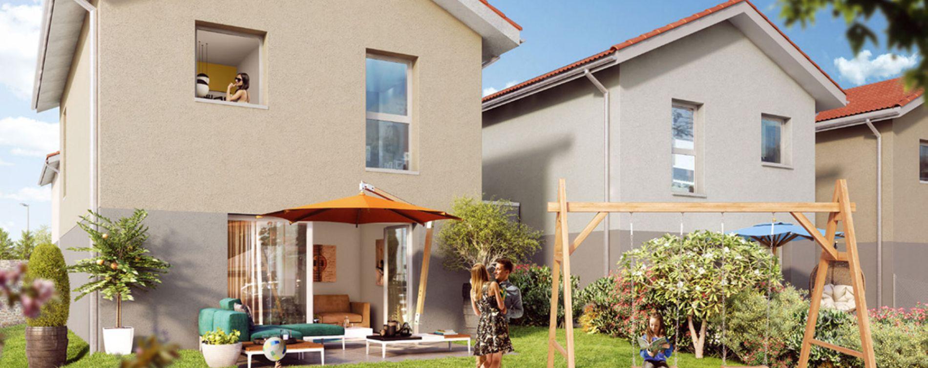 L'Isle-d'Abeau : programme immobilier neuve « Maisons Green Archipel »