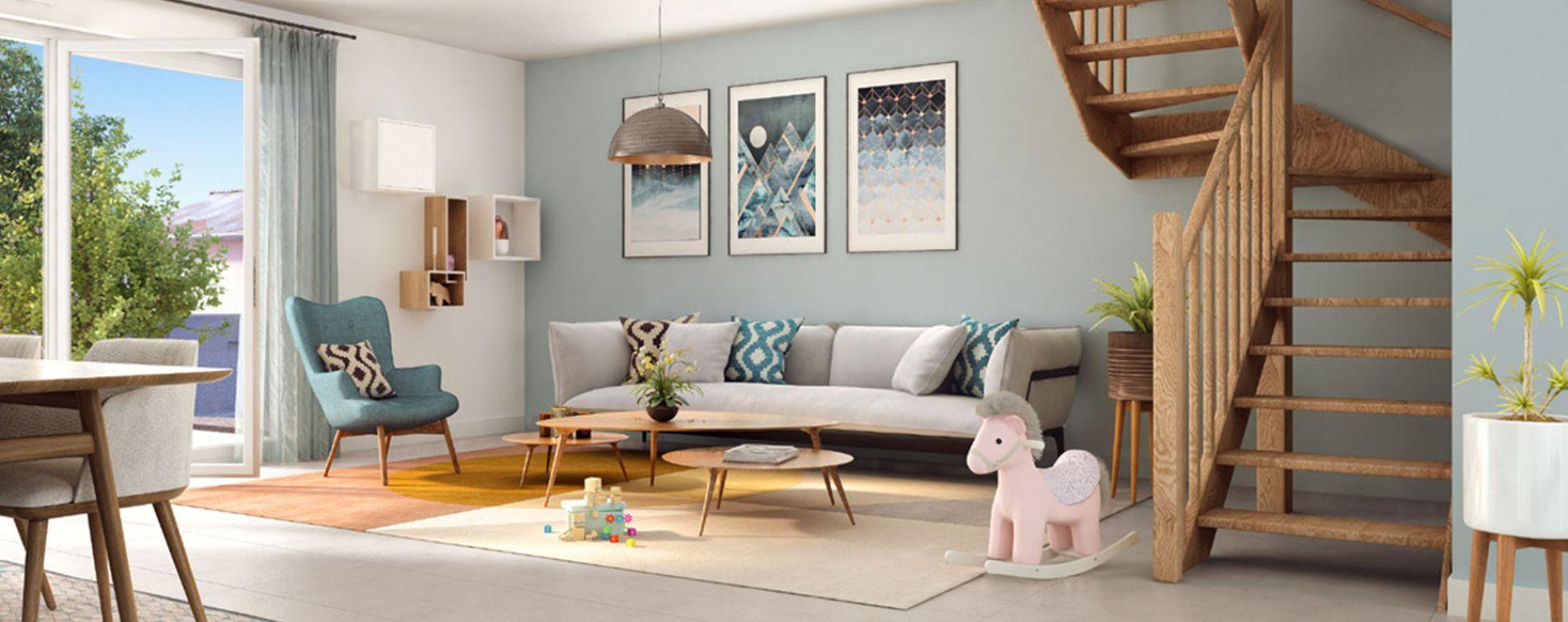 L'Isle-d'Abeau : programme immobilier neuve « Maisons Green Archipel » (2)