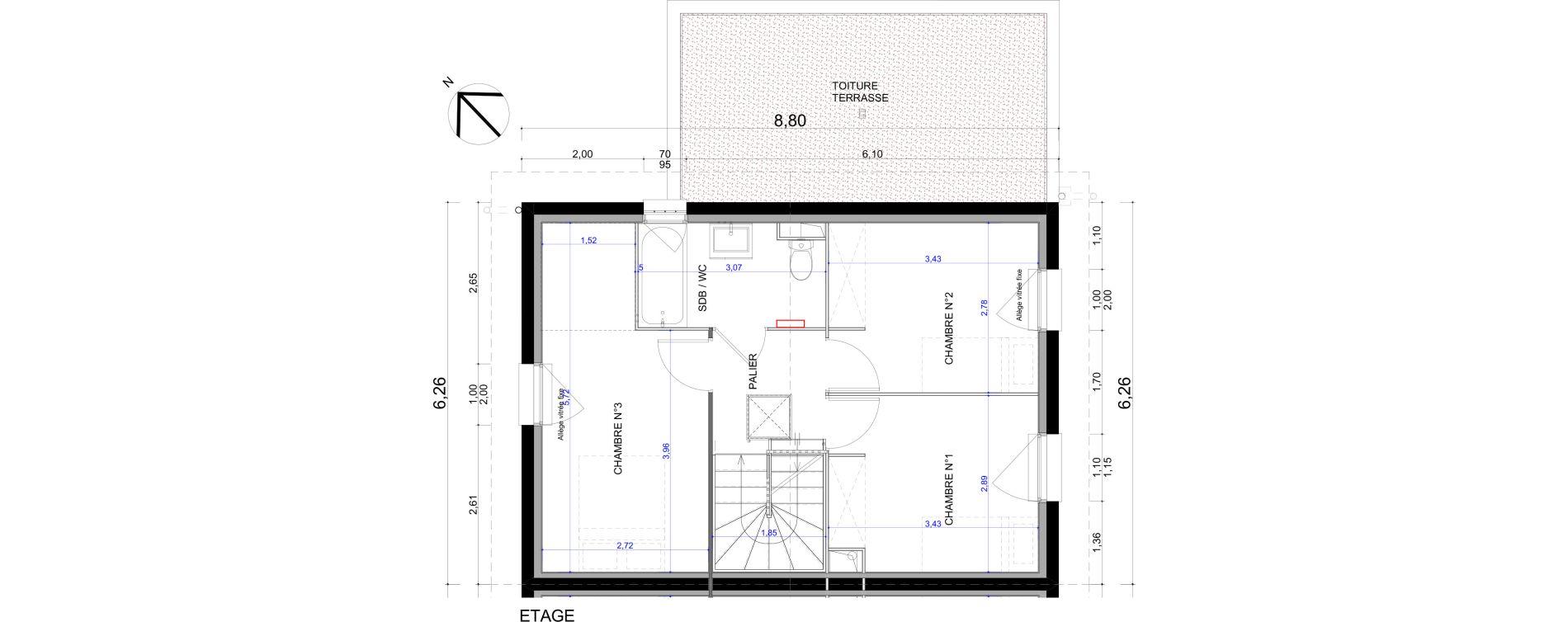 Maison T4 de 84,85 m2 à L'Isle-D'Abeau Centre