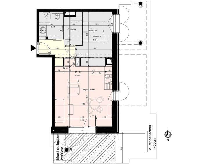 Plan T2 neuf à Mont-de-Lans de