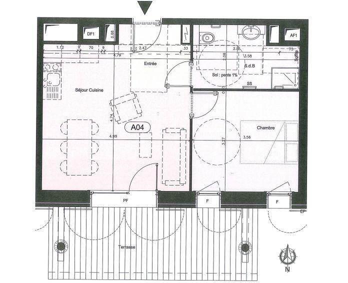 Plan T3 neuf à Mont-de-Lans de