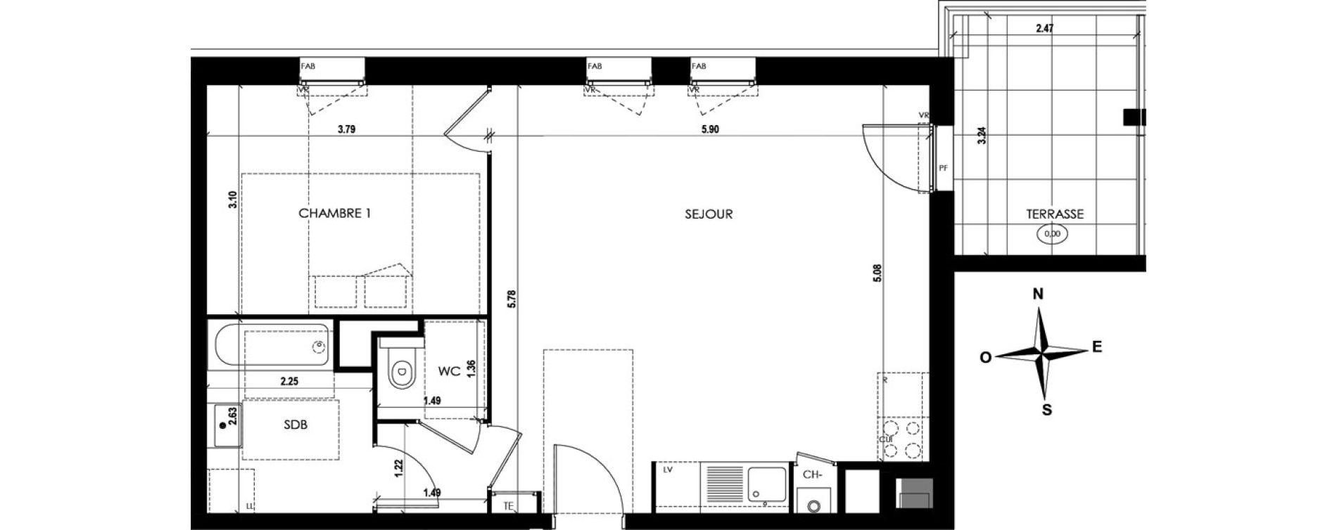 Appartement T2 de 53,48 m2 à Vienne Centre