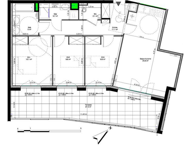 appartement t4 les jardins de la tiretaine chamali res n951. Black Bedroom Furniture Sets. Home Design Ideas