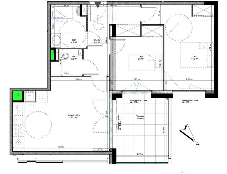 appartement t3 les jardins de la tiretaine chamali res n984. Black Bedroom Furniture Sets. Home Design Ideas