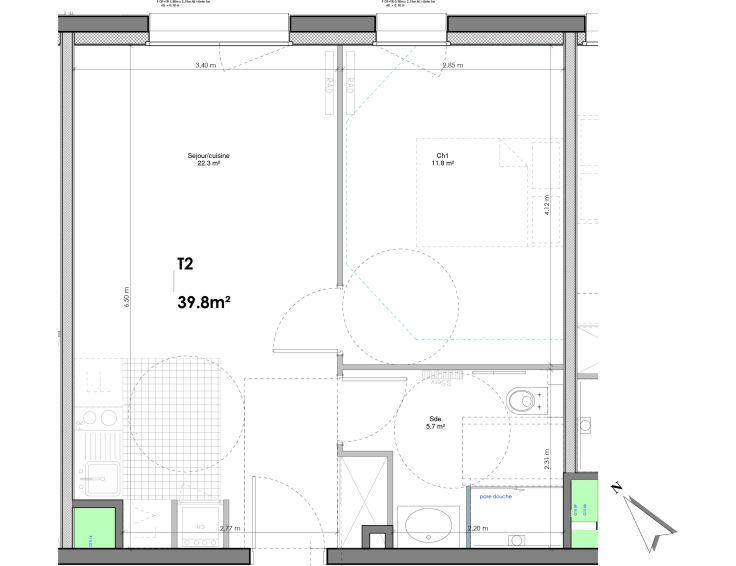 appartement t4 les jardins de la tiretaine chamali res n998. Black Bedroom Furniture Sets. Home Design Ideas
