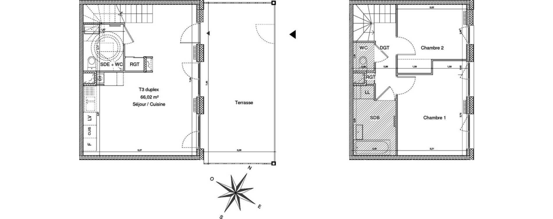 Maison T3 de 66,02 m2 à Clermont-Ferrand Cataroux