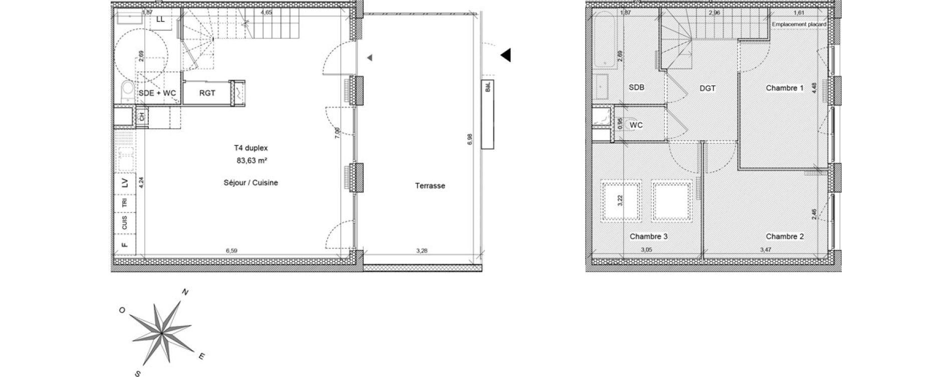 Maison T4 de 85,24 m2 à Clermont-Ferrand Cataroux