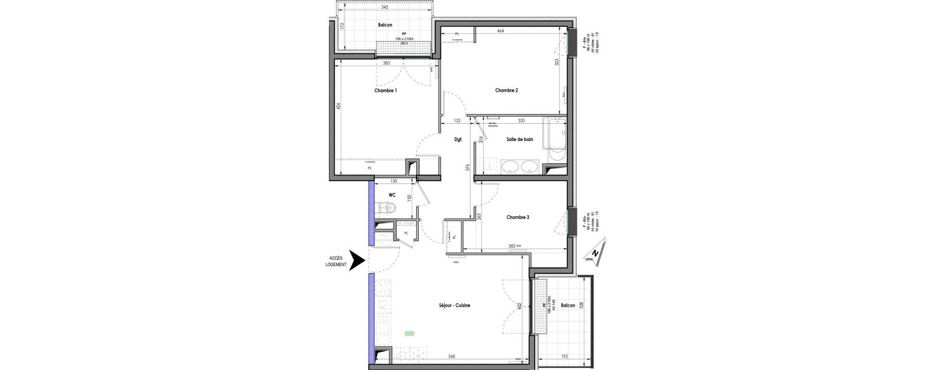 Appartement T4 de 81,75 m2 à Clermont-Ferrand Clermont ferrand république