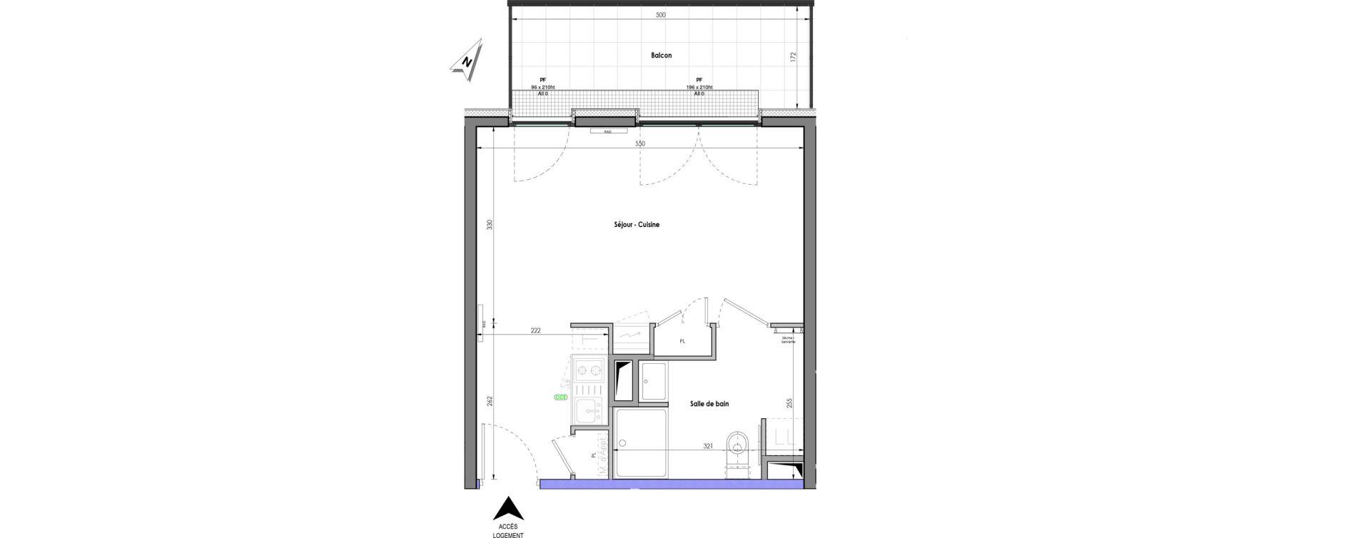 Appartement T1 de 30,95 m2 à Clermont-Ferrand Clermont ferrand république