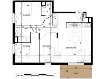 Appartement t4 un jardin en ville clermont for B b un jardin en ville brussels