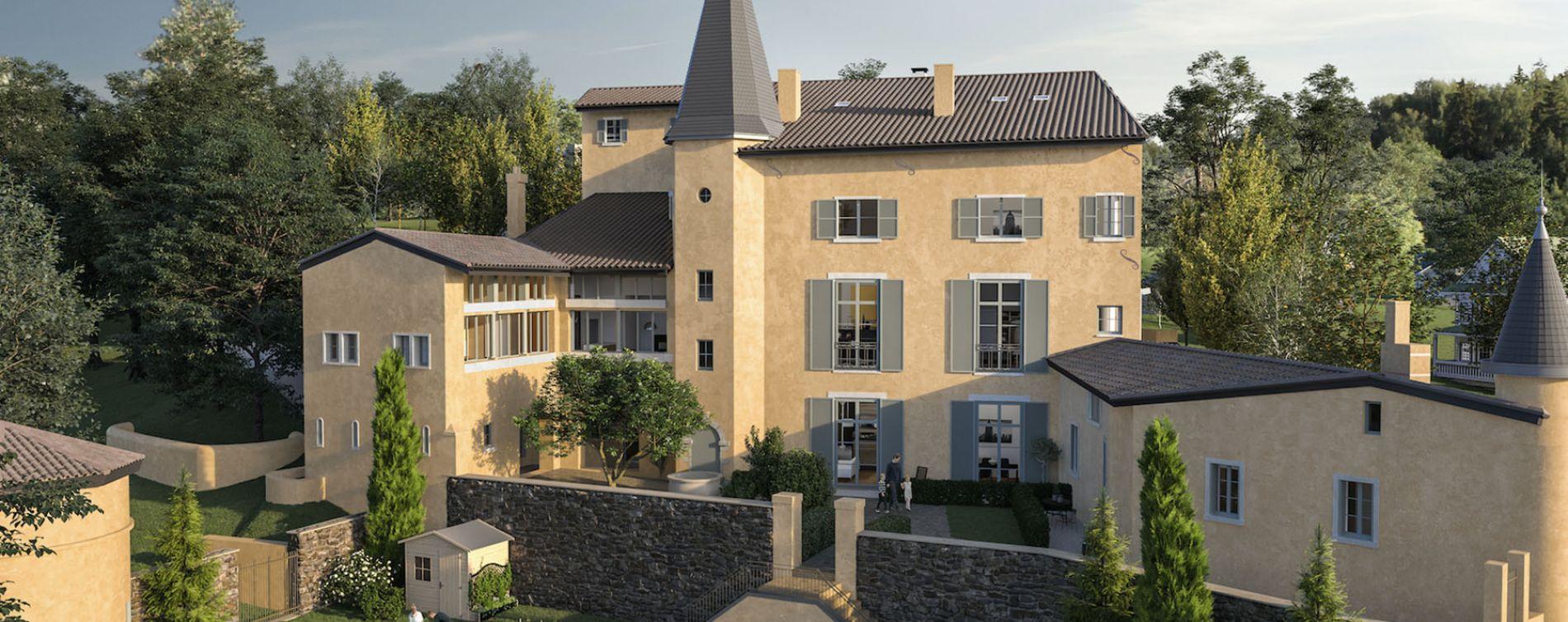 Albigny-sur-Saône : programme immobilier à rénover « Château Bel Air » en Déficit Foncier