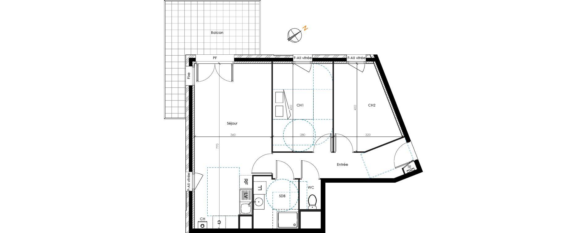 Appartement T3 de 61,45 m2 à Brignais Centre