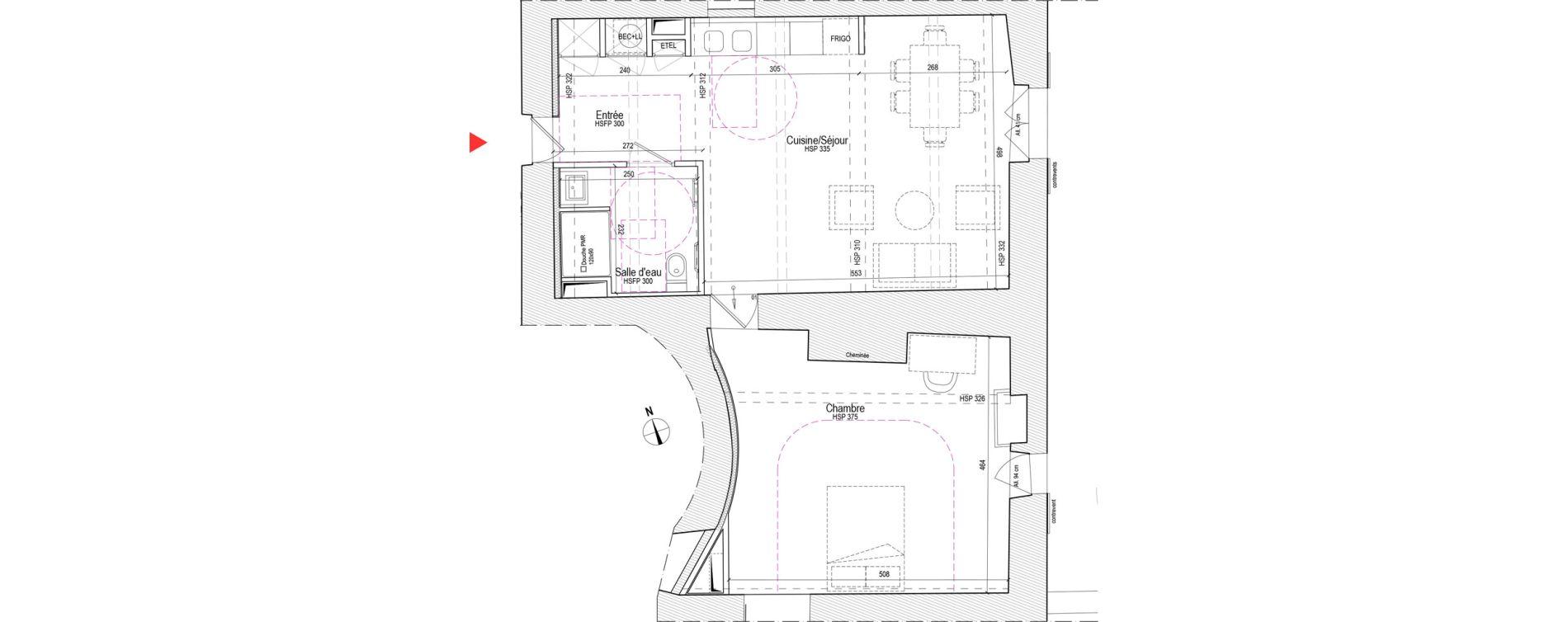 Appartement T2 de 62,61 m2 à Chassagny Centre