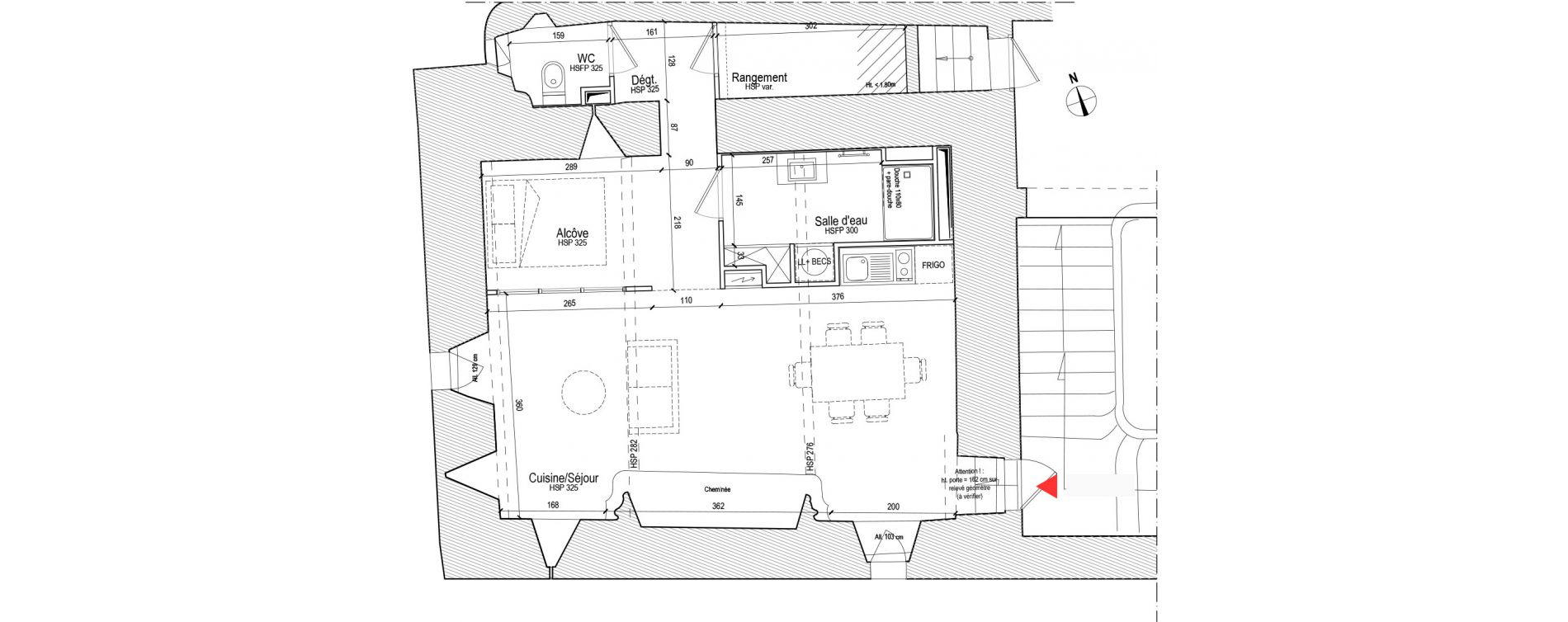 Appartement T1 de 46,18 m2 à Chassagny Centre