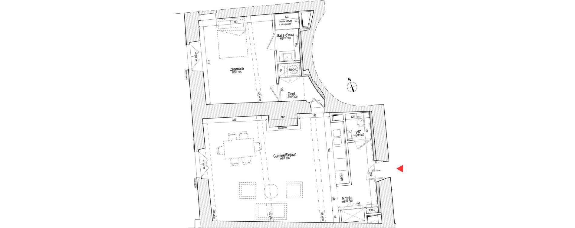 Appartement T2 de 62,97 m2 à Chassagny Centre