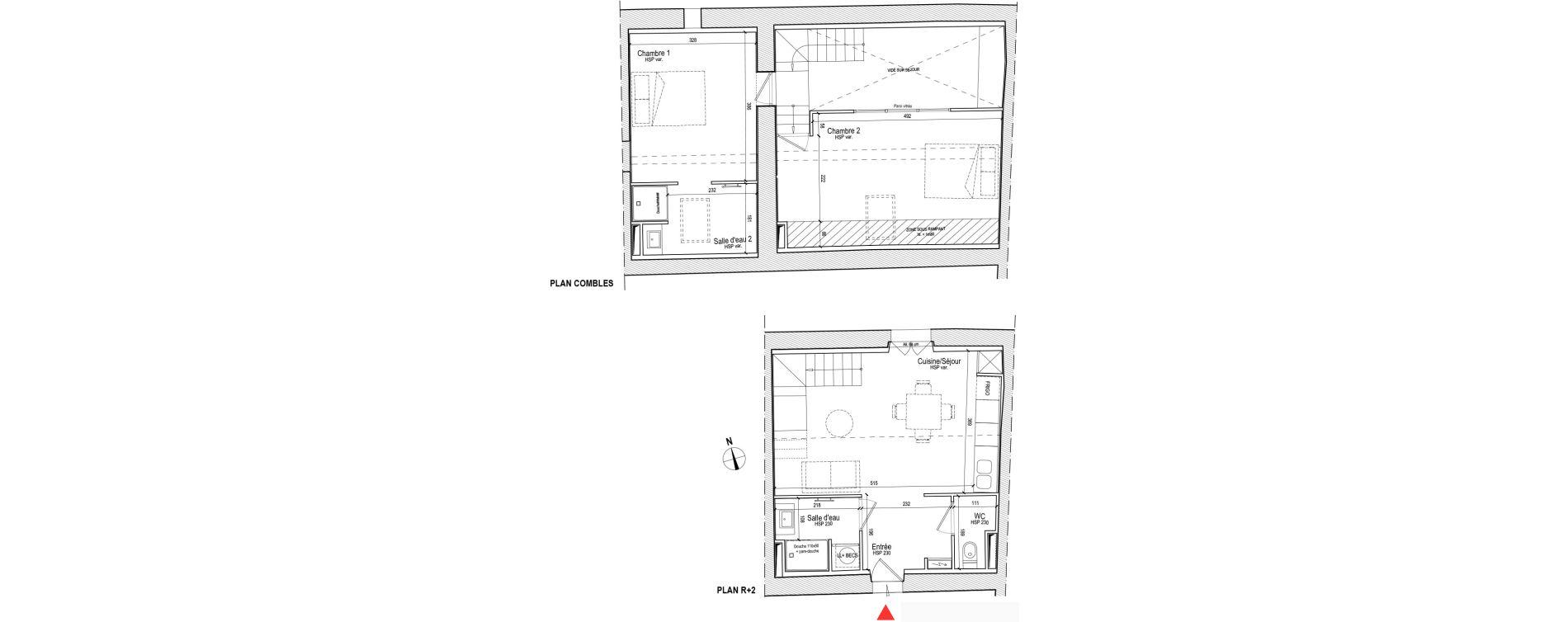Duplex T3 de 62,30 m2 à Chassagny Centre