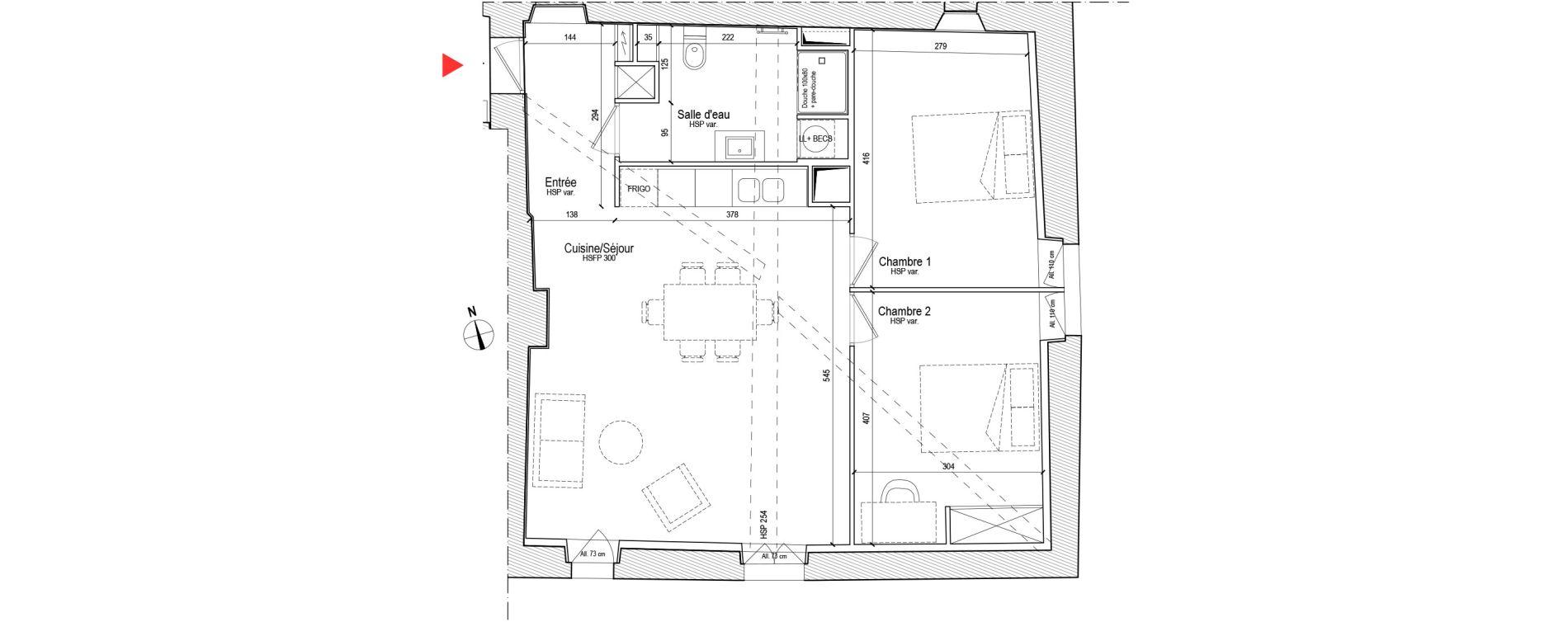 Appartement T3 de 65,20 m2 à Chassagny Centre