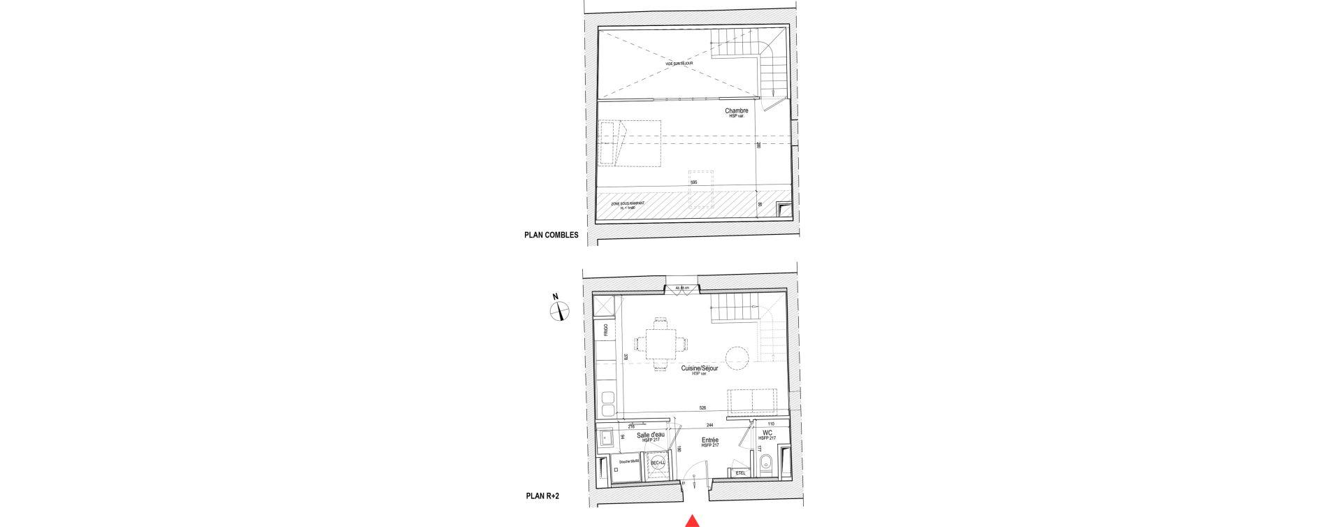 Duplex T2 de 45,98 m2 à Chassagny Centre