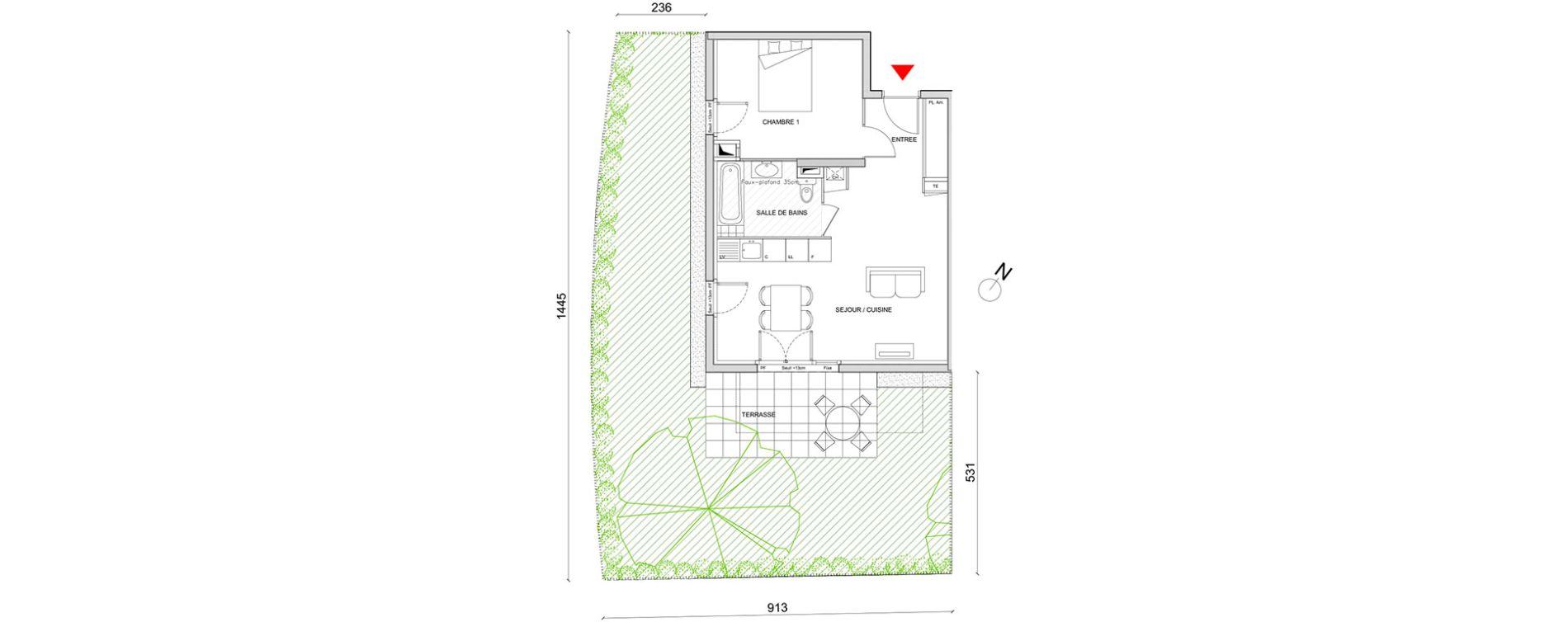 Appartement T2 de 45,91 m2 à Corbas Centre