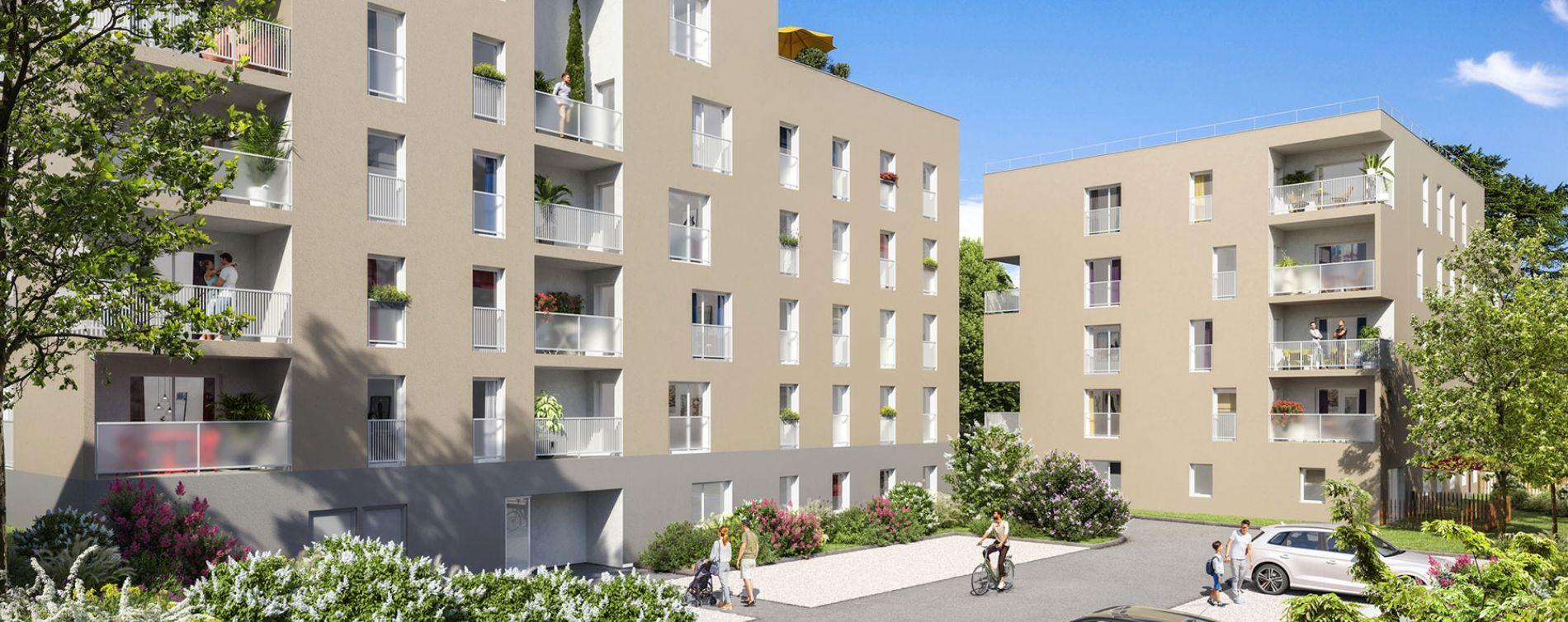 Gleizé : programme immobilier neuve « Terre de Cèdre » en Loi Pinel