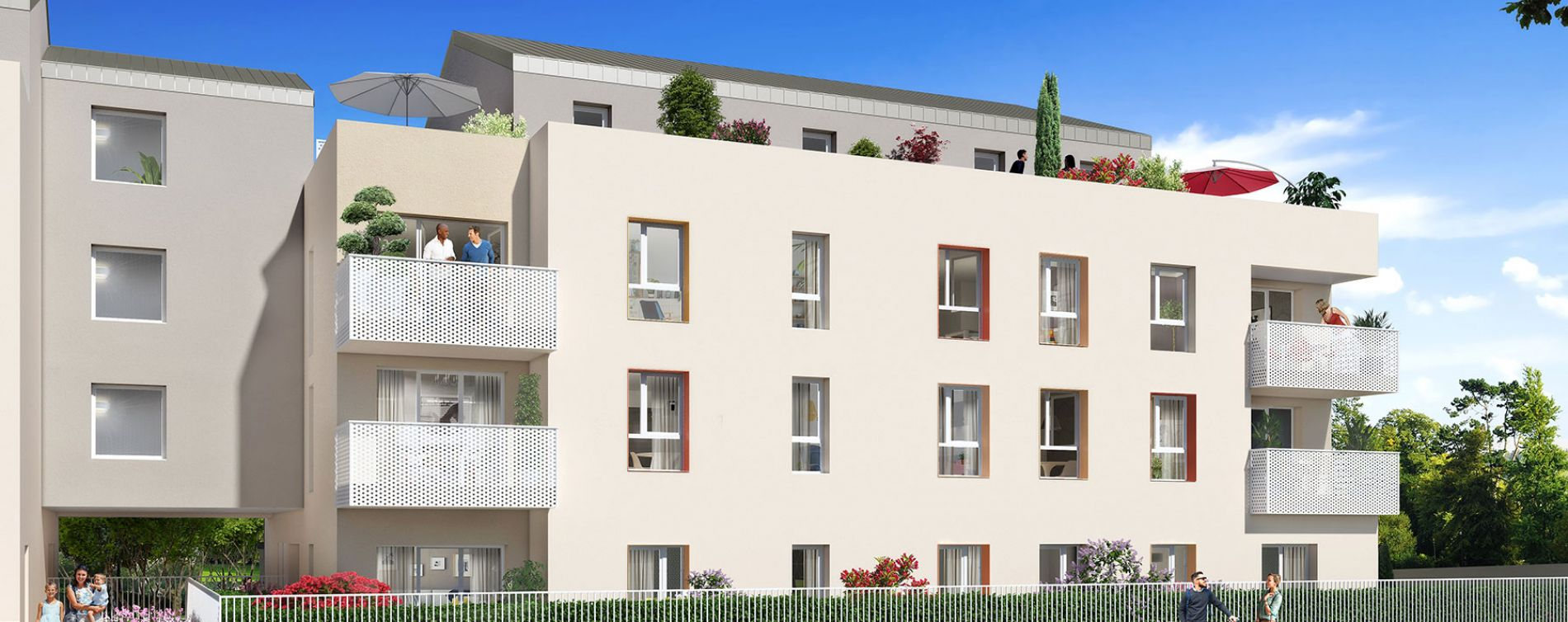 Grigny : programme immobilier neuve « Pastel » (2)
