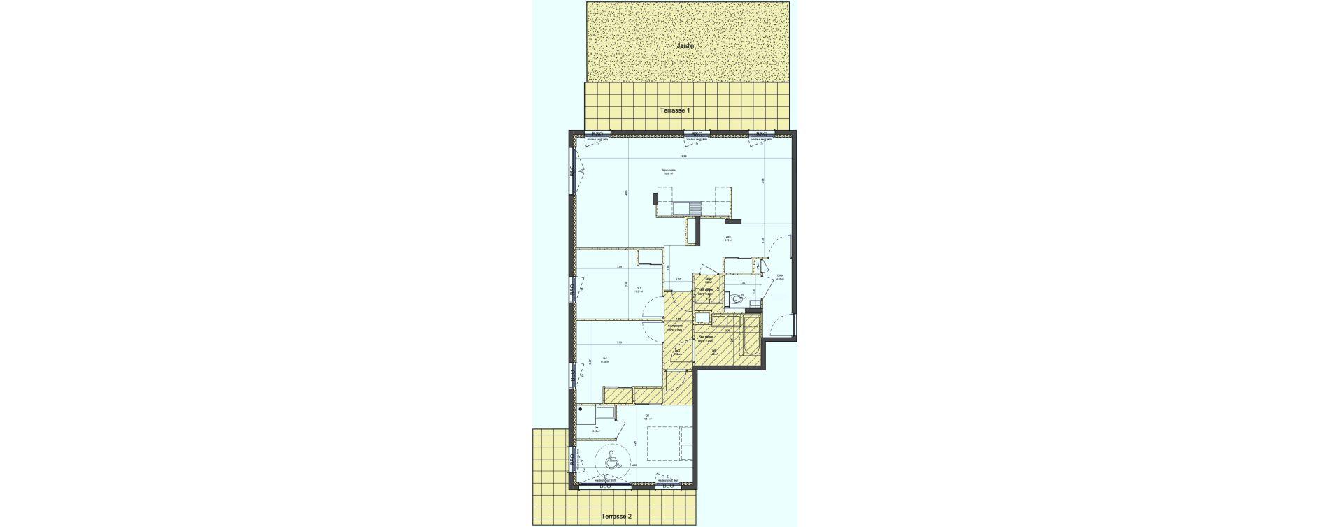 Appartement T4 de 101,98 m2 à Lyon La croix-rousse (1er/4eme)