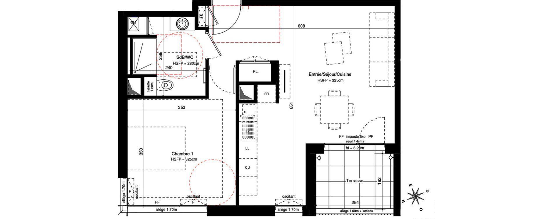 Appartement T2 de 47,49 m2 à Lyon Montchat (3ème)