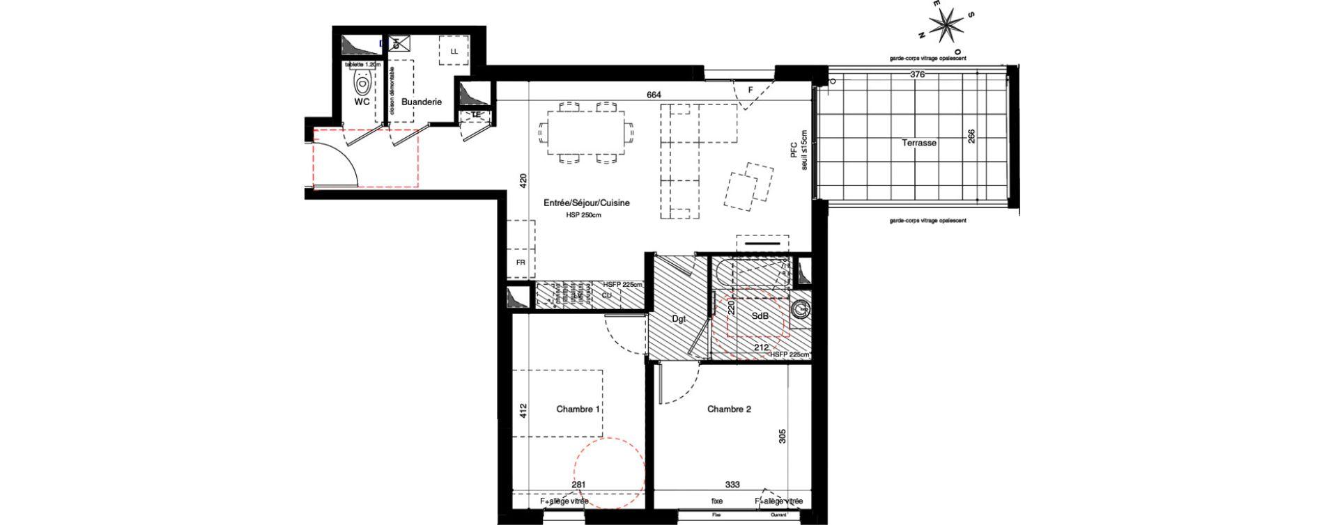 Appartement T3 de 64,68 m2 à Lyon Montchat (3ème)
