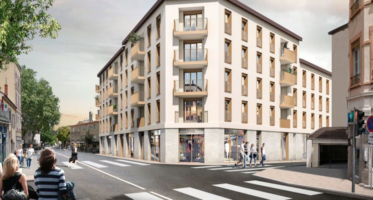 Lyon : programme immobilier neuf « Faubourg Valmy » en Loi Pinel
