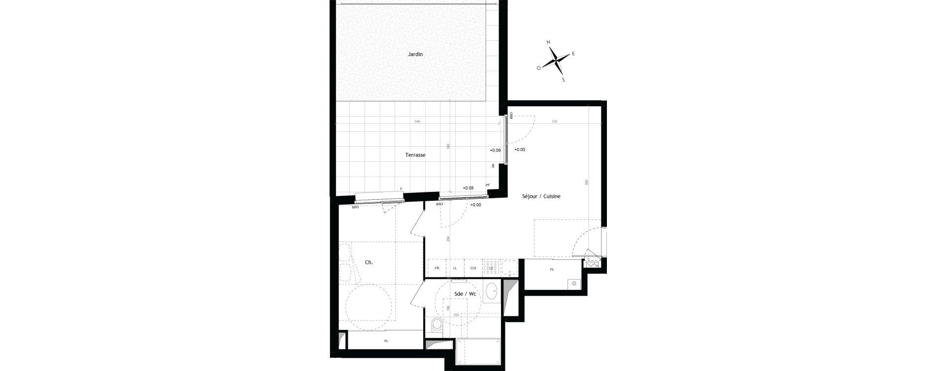 Appartement T2 de 44,57 m2 à Lyon Vaise (9eme)