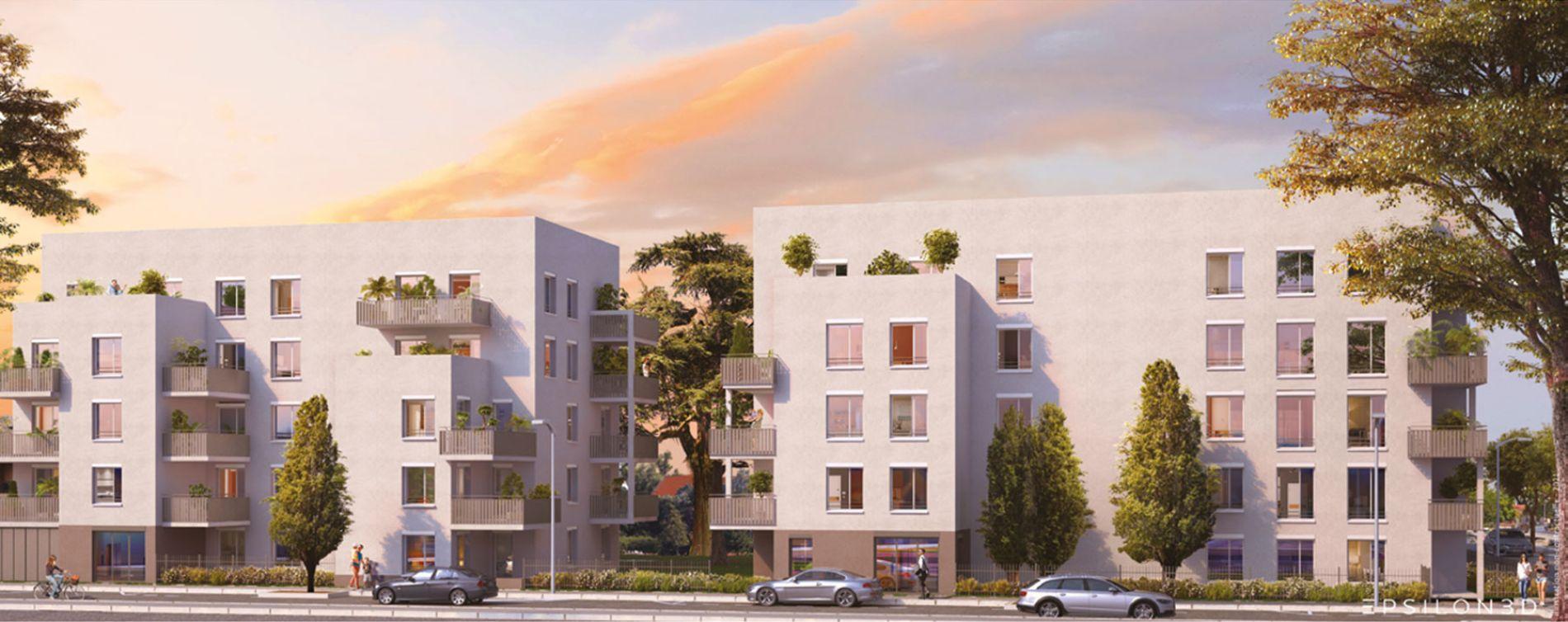 Lyon : programme immobilier neuve « Vert Million » en Loi Pinel