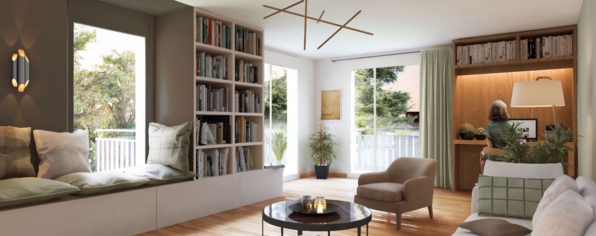Lyon : programme immobilier neuve « Vert Million » en Loi Pinel (2)