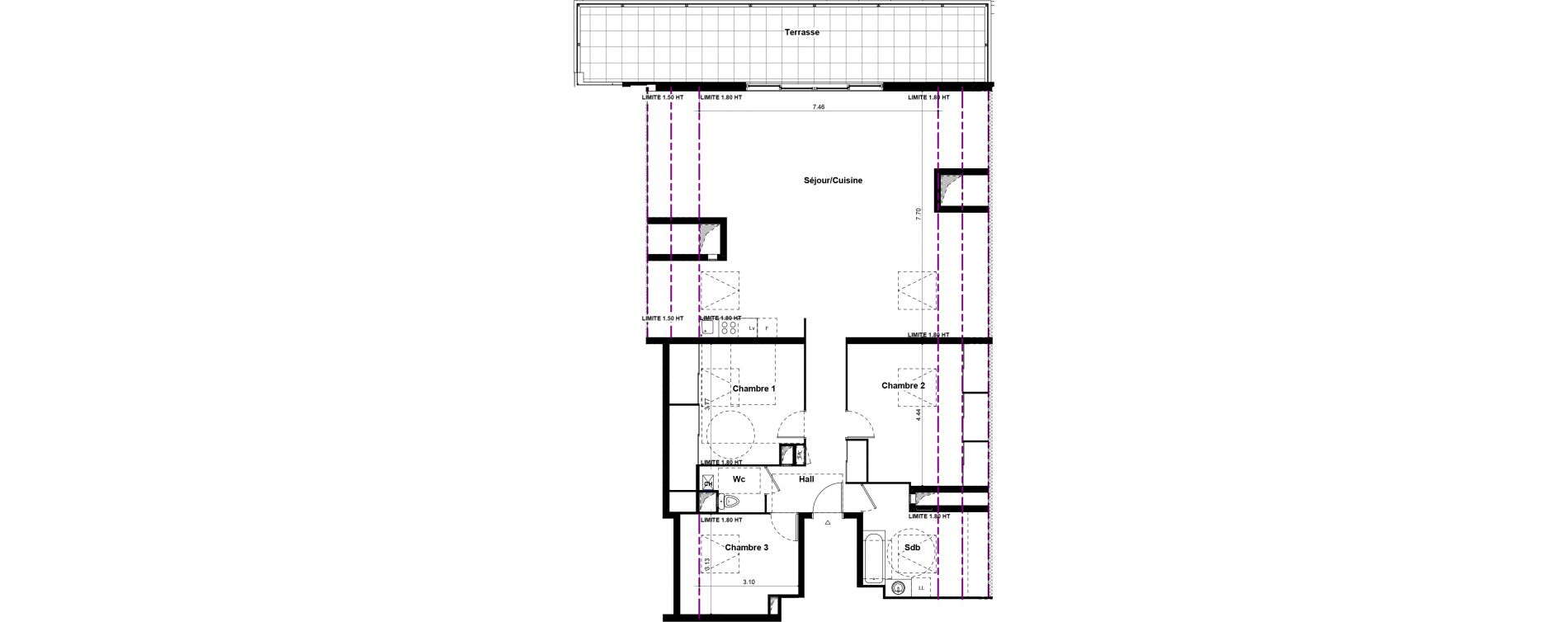 Appartement T4 de 108,30 m2 à Saint-Fons Centre