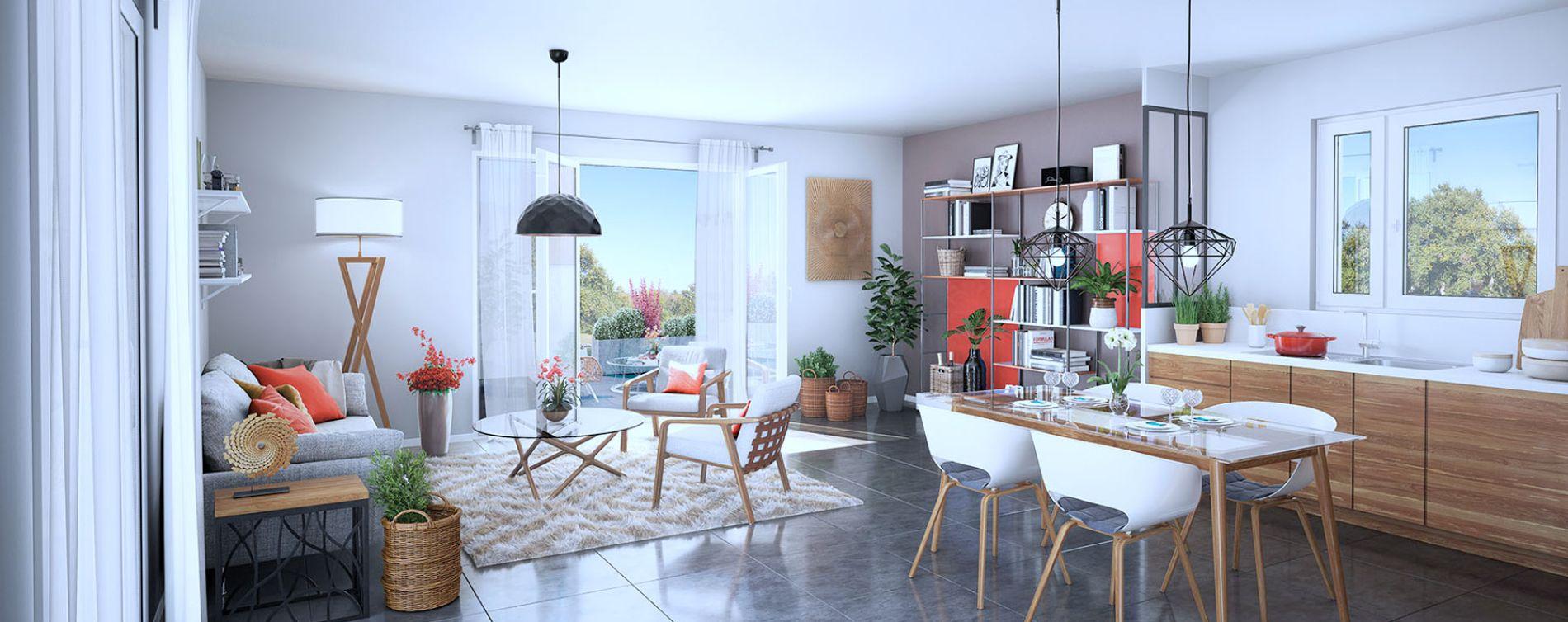 Saint-Priest : programme immobilier neuve « Programme immobilier n°215732 » (4)
