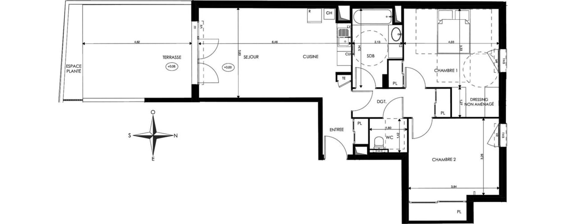 Appartement T3 de 73,02 m2 à Saint-Priest Revaison
