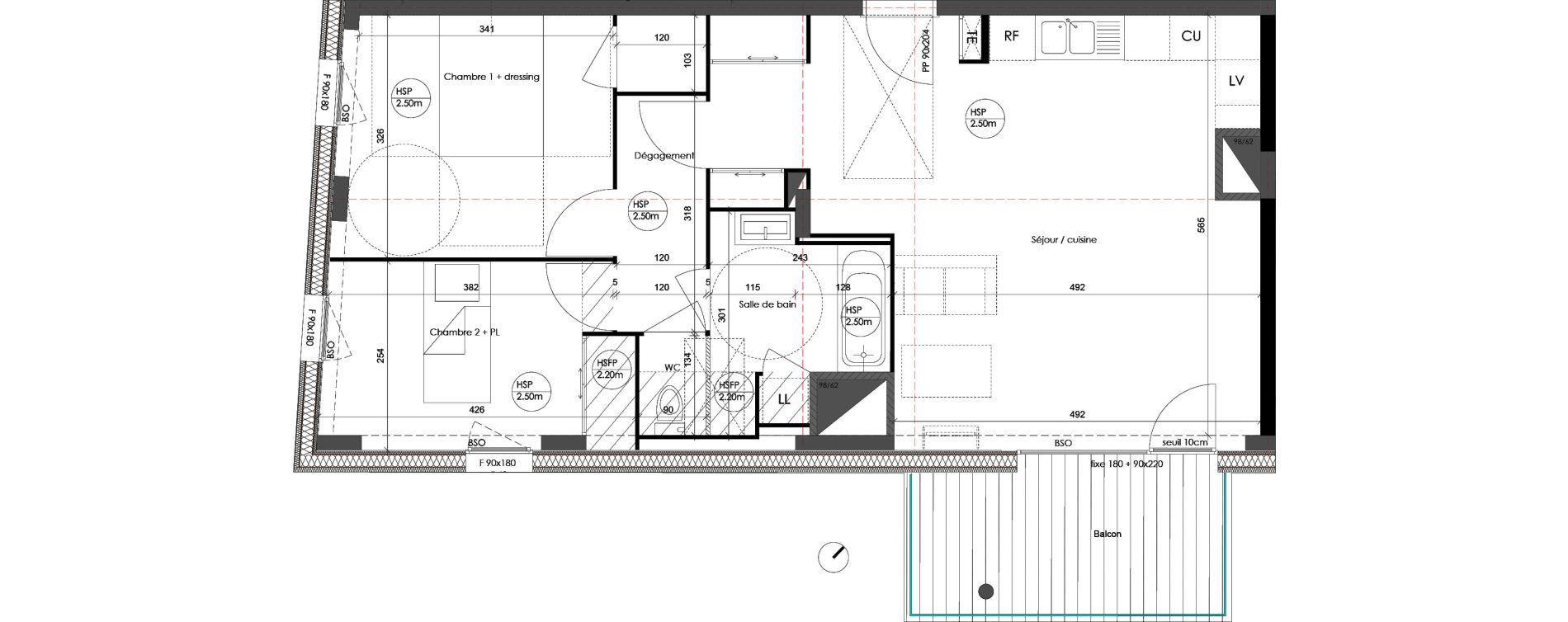 Appartement T3 de 68,41 m2 à Saint-Priest Centre
