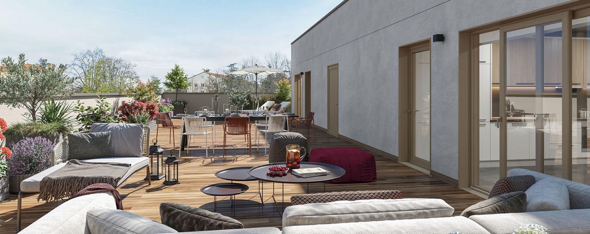Sainte-Foy-lès-Lyon : programme immobilier neuve « Esprit Domaine » en Loi Pinel