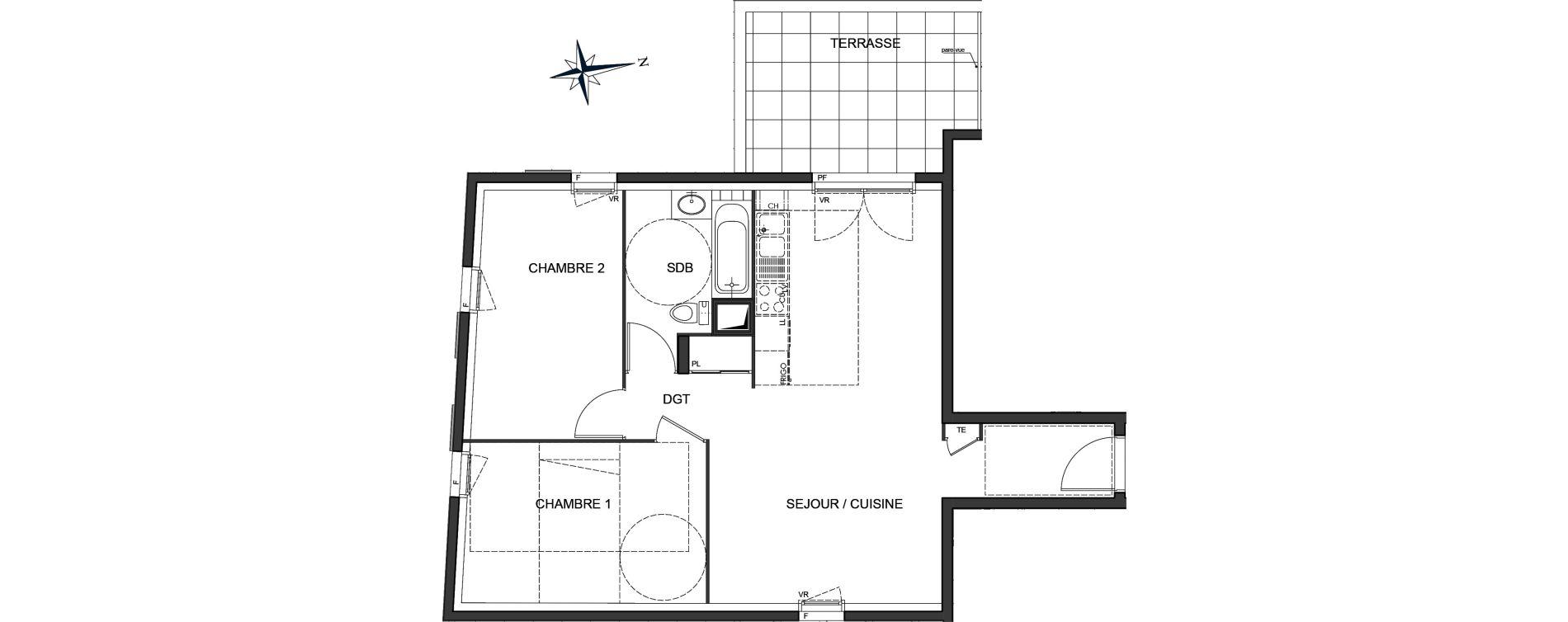 Appartement T3 de 60,88 m2 à Vaulx-En-Velin Centre