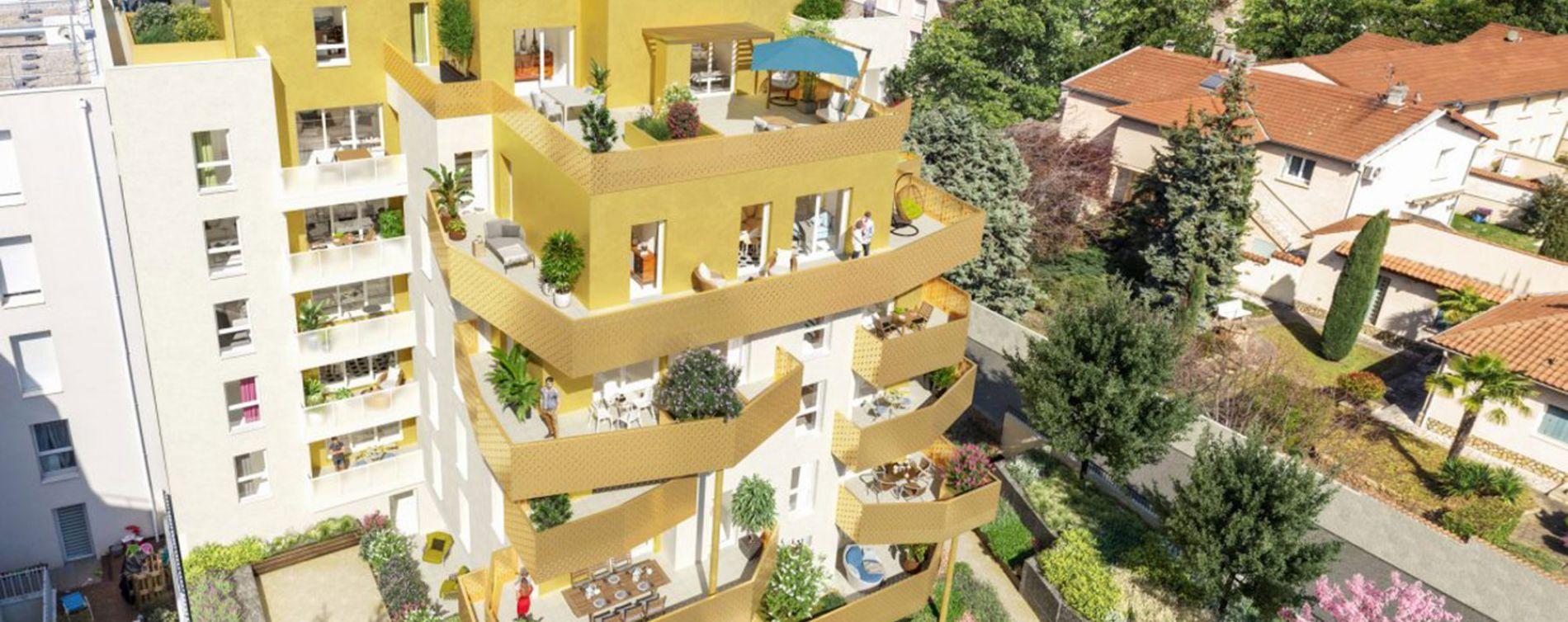Vénissieux : programme immobilier neuve « Irisea » en Loi Pinel (3)