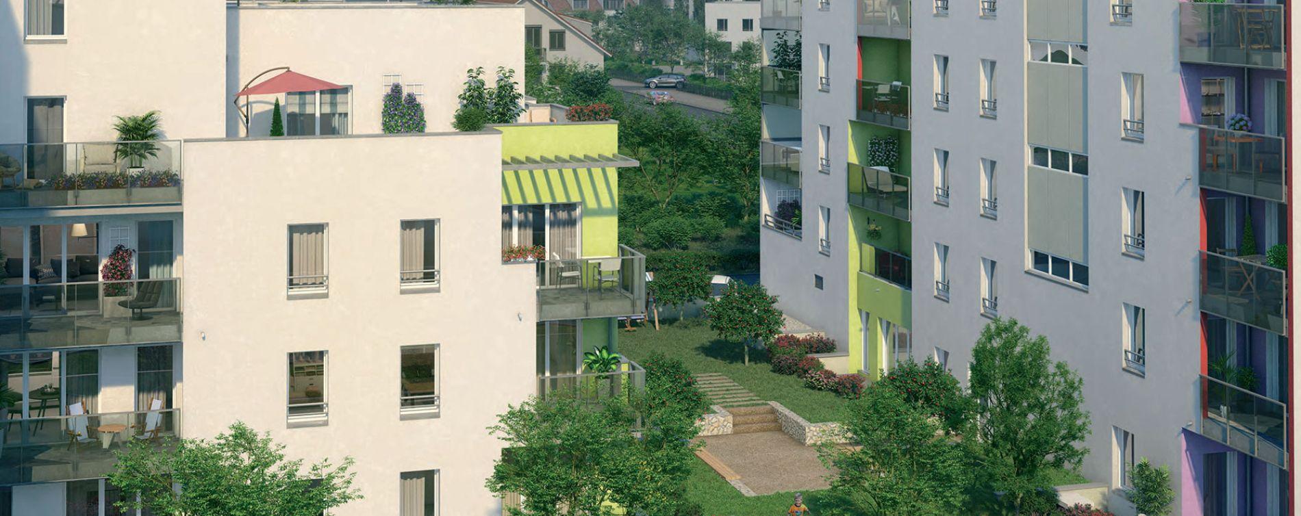 Vénissieux : programme immobilier neuve « Les Jardins de Lana » (2)