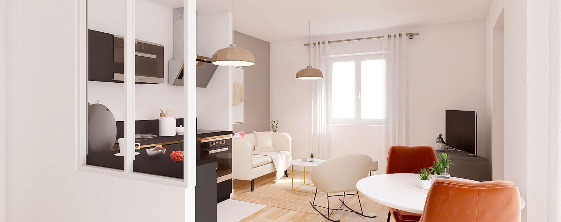 Villeurbanne : programme immobilier à rénover « Blum Médipôle » en Loi Pinel ancien (4)