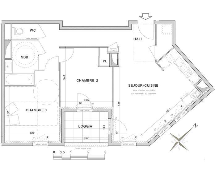 Plan T3 neuf à Villeurbanne de