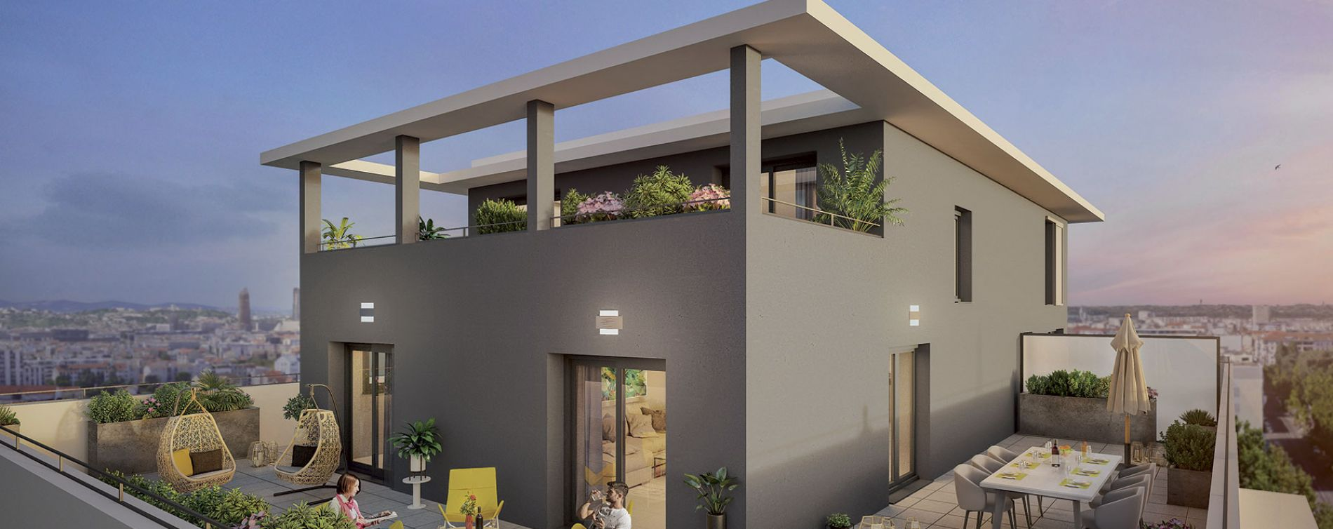 Villeurbanne : programme immobilier neuve « Côté Balzac »