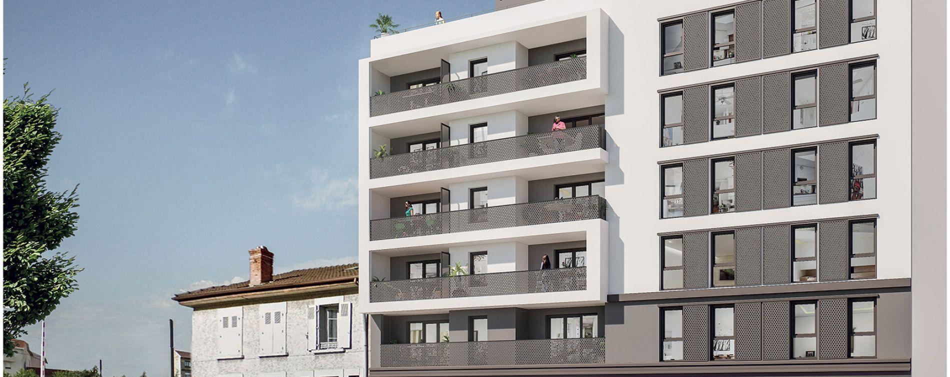 Villeurbanne : programme immobilier neuve « Côté Balzac » (2)