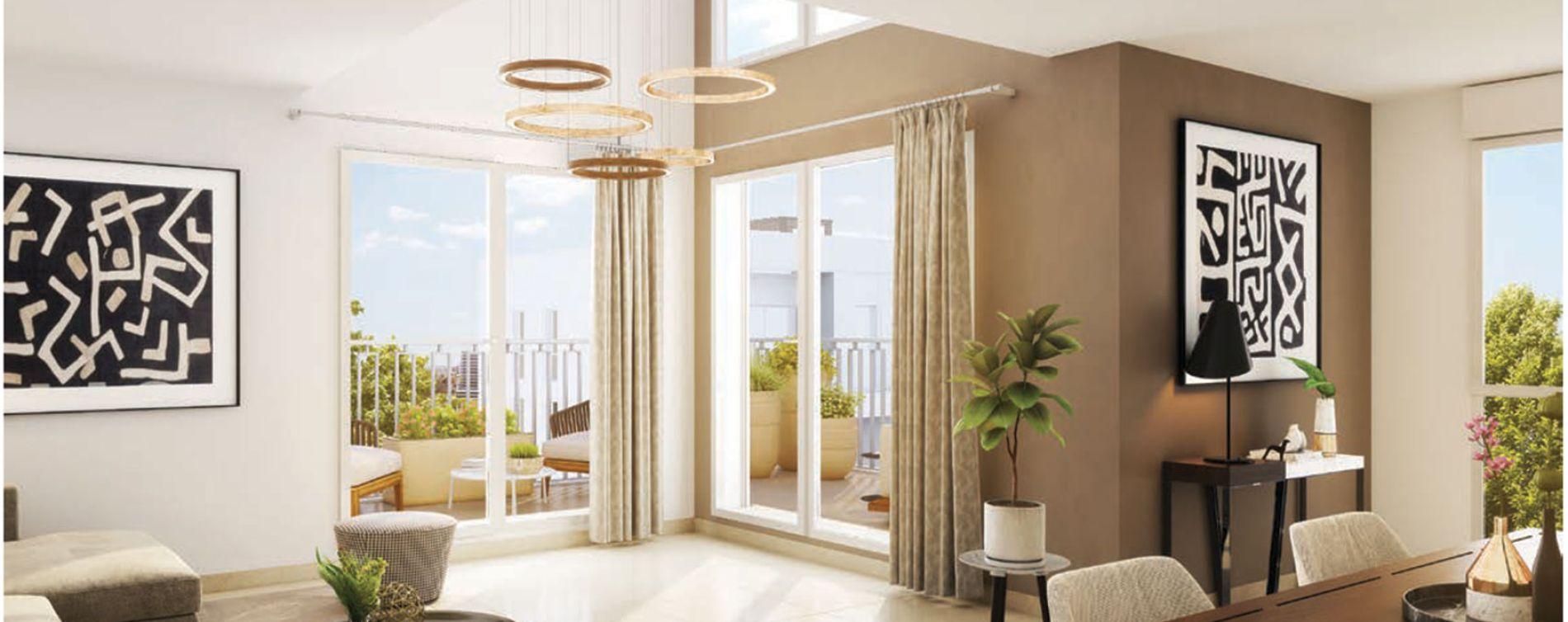 Villeurbanne : programme immobilier neuve « Crescendo » (2)