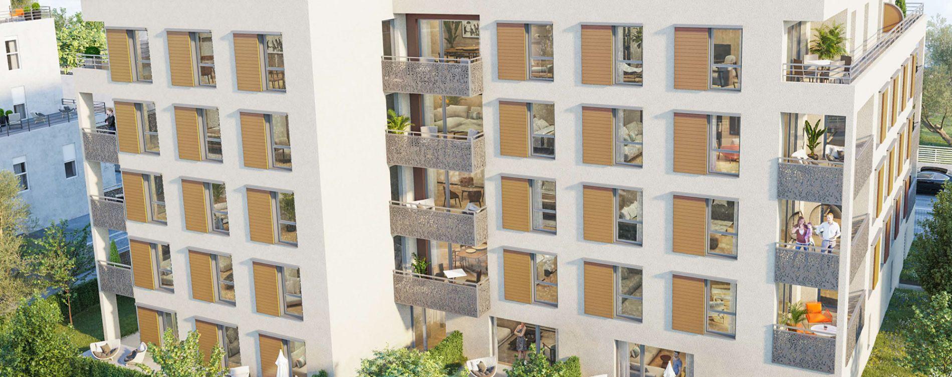 Villeurbanne : programme immobilier neuve « K-ract'R »